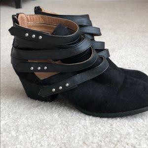 Windsor black studded booties